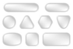 White buttons for web Stock Image