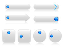 White buttons for web Royalty Free Stock Image
