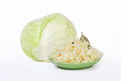 White cabbage. Arbel white cabbage, cabbage, acidic to limpets Stock Photography