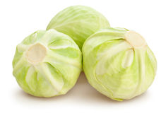 White cabbage. On white background stock images