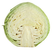 White cabbage cut in half. Isolated on white Stock Image