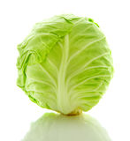 White cabbage head isolated on white Royalty Free Stock Images