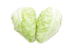 White Cabbage In Heart Shape. Royalty Free Stock Photography
