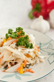 White cabbage salad Royalty Free Stock Images