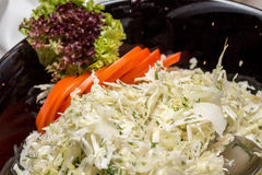 White cabbage salad Stock Photos