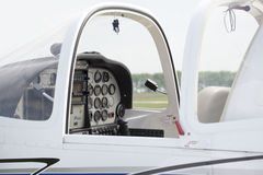 White Cabin of small private airplane Royalty Free Stock Images