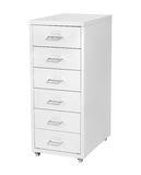 White Cabinet with drawers Royalty Free Stock Image