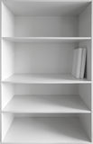 White cabinet with empty shelves Stock Photography