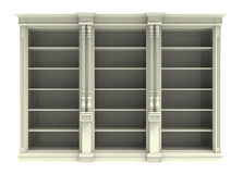 White cabinet with shelves Royalty Free Stock Images