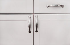White Cabinets Stock Images