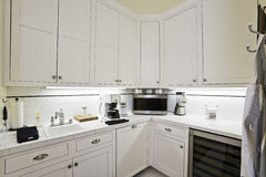 White Cabinets In The Kitchen Stock Photo
