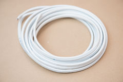 White cable for electricity Stock Photo