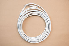 White cable for electricity Royalty Free Stock Photos