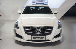 White cadillac cts car Royalty Free Stock Photo