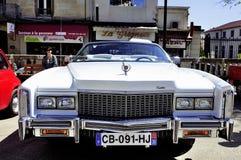Before a white Cadillac Eldorado 1970 Stock Photo