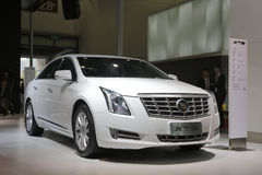 White cadillac xts car Stock Photography