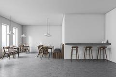 Fine White Cafe Interior With Sofa And Bar Stock Illustration Machost Co Dining Chair Design Ideas Machostcouk