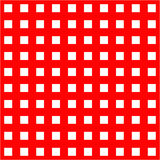 White cages on red background seamless pattern. Hand drown vector backdrop Royalty Free Stock Photography