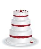 White cake illustration Stock Photo