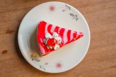 White cake. With strawberry jam Royalty Free Stock Image