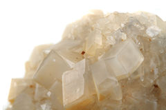 White calcite mineral Royalty Free Stock Photo