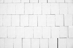 White calcium silicate bricks piled high in stack Royalty Free Stock Image