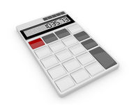 White calculator 3D. Isolated Royalty Free Stock Images