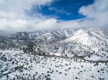 White Californian Desert. Drone shot of nice mountains in the Californian desert stock image