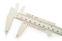 White caliper wth clipping Royalty Free Stock Photography