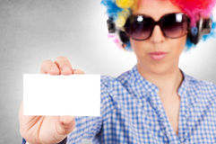 White calling card Royalty Free Stock Photos