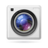 Camera icon lens Stock Photos