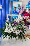 White camomiles, wedding decoration Royalty Free Stock Photo