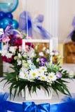 White camomiles, wedding decoration Stock Image