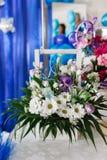 White camomiles, wedding decoration Royalty Free Stock Photos