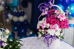 White camomiles, wedding decoration Stock Images