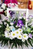 White camomiles, wedding decoration Stock Photography
