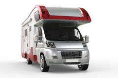 White camper van with red border rims Stock Photo