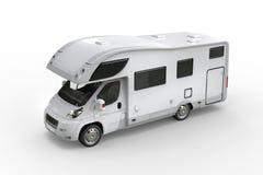 White camper van - top perspective shot Stock Photography