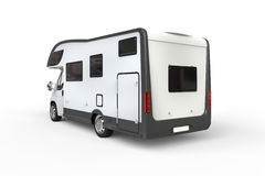 White camper vehicle - rear view Royalty Free Stock Photos