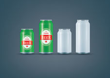 White Can / Beer can mock-up Stock Images