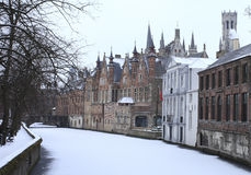 White canal in Bruges Stock Images