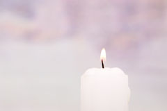 White candle Royalty Free Stock Images