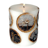 White candle Stock Images