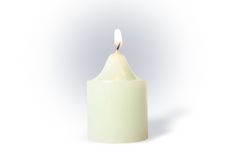 White Candle Stock Photography