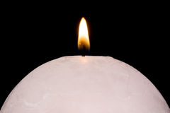 White Candle Ball Stock Photography