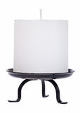 White candle cutout. With clipping path Stock Images