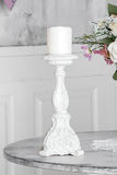 White candle holder Stock Images