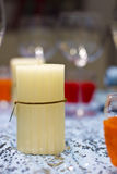 White candle home decoration Royalty Free Stock Image