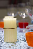 White candle home decoration Stock Image