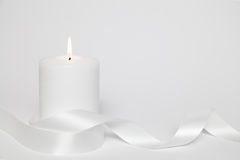 White candle and loop Royalty Free Stock Photos